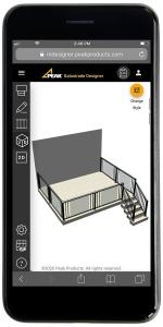 3D Balustrade Designer mobile mockup